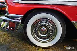 Close-up of Chevrolet Bel Air Sport Coupé 3.9 Powerglide, 142ps, 1956 at Onsdagsträffar på Gammlia Umeå 2019 vecka 30