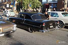 Back/Side of Chevrolet Bel Air 2-door Sedan 4.3 V8 Powerglide, 183ps, 1955 at Umeå Wheels Nations Norr 2019