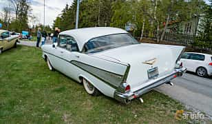 Back/Side of Chevrolet Bel Air Sport Sedan 4.6 V8 Powerglide, 188ps, 1957 at Vårcruising Järna 2019
