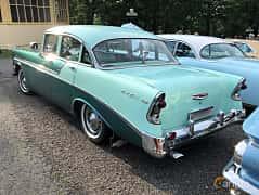 Back/Side of Chevrolet Bel Air 4-door Sedan 3.9 Powerglide, 142ps, 1956 at Bil & MC-träffar i Huskvarna Folkets Park 2019 vecka 25 tema GM-bilar