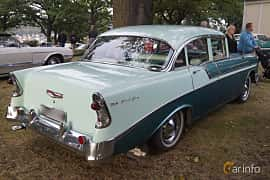 Back/Side of Chevrolet Bel Air 4-door Sedan 3.9 Powerglide, 142ps, 1956 at Bil & MC-träffar i Huskvarna Folkets Park v.35 - 2015
