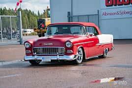 Fram/Sida av Chevrolet Bel Air Convertible 4.3 V8 Powerglide, 183ps, 1955 på Power End of Summer Meet Emmaboda 2018