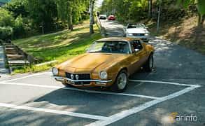 Front/Side  of Chevrolet Camaro 5.0 V8 Powerglide, 203ps, 1971 at Stockholm Vintage & Sports Car meet 2019