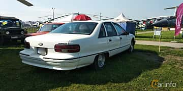 Back/Side of Chevrolet Caprice Sedan 5.0 V8 Automatic, 173ps, 1992 at Old Car Land no.1 2019