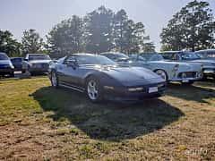 Front/Side  of Chevrolet Corvette 5.7 V8 Automatic, 249ps, 1988 at Fordonsträffar i Flen v.30 / 2019