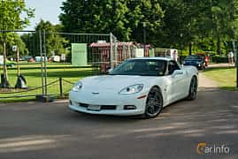 Front/Side  of Chevrolet Corvette 6.2 V8 Automatic, 437ps, 2008 at Ronneby Nostalgia Festival 2019