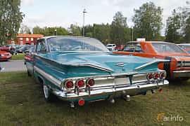 Back/Side of Chevrolet Impala Sport Coupé 3.9 Manual, 137ps, 1960 at Onsdagsträffar på Gammlia Umeå 2019 vecka 33