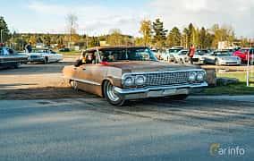 Front/Side  of Chevrolet Impala Sport Sedan 4.6 V8 Powerglide, 198ps, 1963 at Wheelers Cruising, Vetlanda 2019