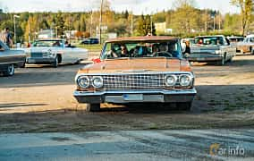 Front  of Chevrolet Impala Sport Sedan 4.6 V8 Powerglide, 198ps, 1963 at Wheelers Cruising, Vetlanda 2019