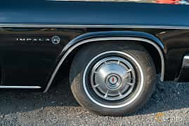 Close-up of Chevrolet Impala Convertible 4.6 V8 Powerglide, 198ps, 1966 at Lissma Classic Car 2019 vecka 20