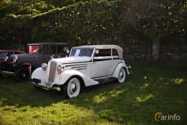 Fram/Sida av Chevrolet Master Cabriolet 3.4 Manual, 80ps, 1934 på Tjolöholm Classic Motor 2018