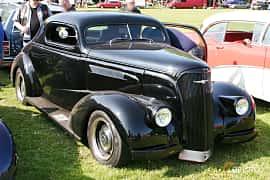 Front/Side  of Chevrolet Master Coupé 3.5 Manual, 86ps, 1937 at Hässleholm Power Start of Summer Meet 2016