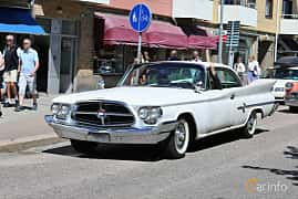 Front/Side  of Chrysler 300F Hardtop 6.8 V8 Automatic, 381ps, 1960 at Cruising Lysekil 2019