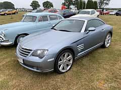 Front/Side  of Chrysler Crossfire 3.2 V6 Automatic, 218ps, 2005 at Svenskt sportvagnsmeeting 2019