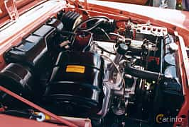 Engine compartment of Chrysler New Yorker Sedan 6.4 V8 Automatic, 349ps, 1958