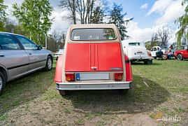 Back of Citroën 2CV 0.6 Manual, 29ps, 1983 at Fest För Franska Fordon  på Taxinge slott 2019