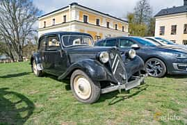 Front/Side  of Citroën 11 CV Sedan 1.9 Manual, 56ps, 1948 at Fest För Franska Fordon  på Taxinge slott 2019