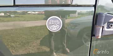 Close-up of Jeep Wrangler 3.8 V6 4WD 199ps, 2007 at Old Car Land no.1 2019