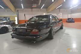 Back/Side of Daimler Super V8 4.0 V8 Automatic, 363ps, 1999 at Bilsport Performance & Custom Motor Show 2019