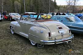 Bak/Sida av DeSoto Custom Convertible Club Coupé 3.9 Semi-Automatic, 111ps, 1947 på Uddevalla Veteranbilsmarknad Backamo, Ljungsk 2019