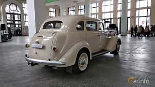 Back/Side of Dodge Beauty Winner 4-door Touring Sedan 3.6 Manual, 87ps, 1936 at Old Car Land no.2 2018
