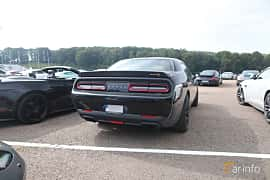 Back/Side of Dodge Challenger SRT Hellcat 6.2 V8 HEMI Supercharged TorqueFlite, 717ps, 2016 at Autoropa Racing day Knutstorp 2019