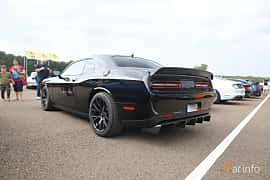Back/Side of Dodge Challenger SRT Hellcat 6.2 V8 HEMI Supercharged TorqueFlite, 717ps, 2015 at Autoropa Racing day Knutstorp 2019