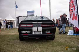 Back of Dodge Challenger 6.4 V8 HEMI TorqueFlite, 485ps, 2018 at Vallåkraträffen 2018