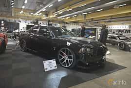 Front/Side  of Dodge Charger SRT-8 6.4 V8 HEMI TorqueFlite, 476ps, 2013 at Bilsport Performance & Custom Motor Show 2019