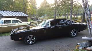 Front/Side  of Dodge Charger R/T 7.2 V8 TorqueFlite, 381ps, 1970 at Onsdagsträffar på Gammlia Umeå 2019 vecka 35