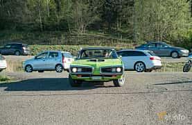 Front  of Dodge Coronet Super Bee Hardtop 6.3 V8 TorqueFlite, 340ps, 1970 at Lissma Classic Car 2019 vecka 20