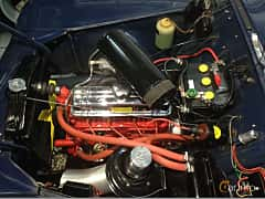 Engine compartment  of Volvo PV444 1949