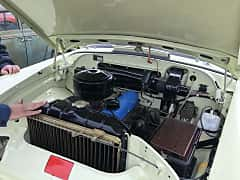 Engine compartment  of GAZ 21 1969 at Old Car Land no.2 2019