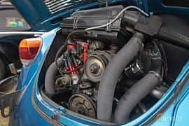 Engine compartment  of Volkswagen 1303 S 1.6 Manual, 50ps, 1974 at West Coast Bug Meet 2019