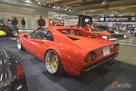 Back/Side of Ferrari 308 GTB 2.9 V8 Manual, 255ps, 1975 at Bilsport Performance & Custom Motor Show 2019