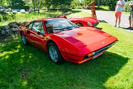 Front/Side  of Ferrari 308 GTBi Quattrovalvole 2.9 V8 Manual, 240ps, 1982 at Sportbilsklassiker Stockamöllan 2019