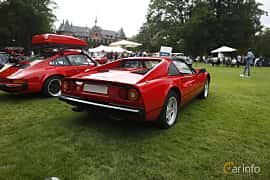 Back/Side of Ferrari 308 GTSi Quattrovalvole 2.9 V8 Manual, 240ps, 1985 at Sofiero Classic 2019