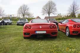 Back of Ferrari 360 Modena 3.6 V8 Manual, 400ps, 2000 at Tisdagsträffarna Vikingatider v.19 / 2017