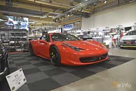 Front/Side  of Ferrari 458 Italia 4.5 V8  DCT, 570ps, 2013 at Bilsport Performance & Custom Motor Show 2019