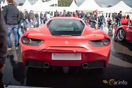 Back of Ferrari 488 GTB 3.9 V8 DCT, 670ps, 2016 at Autoropa Racing day Knutstorp 2015