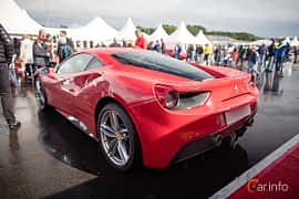 Back/Side of Ferrari 488 GTB 3.9 V8 DCT, 670ps, 2016 at Autoropa Racing day Knutstorp 2015