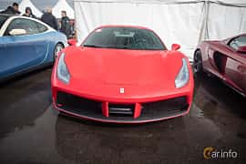 Front  of Ferrari 488 GTB 3.9 V8 DCT, 670ps, 2016 at Autoropa Racing day Knutstorp 2015