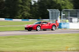 Front/Side  of Ferrari 488 GTB 3.9 V8 DCT, 670ps, 2016 at Autoropa Racing day Knutstorp 2015