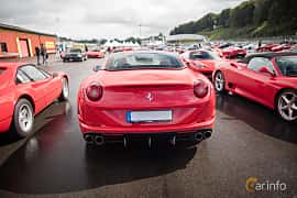 Back of Ferrari California T 3.9 V8  DCT, 560ps, 2015 at Autoropa Racing day Knutstorp 2015