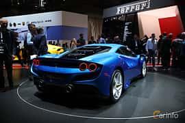 Back/Side of Ferrari F8 Tributo 3.9 V8 DCT, 720ps, 2019 at Geneva Motor Show 2019