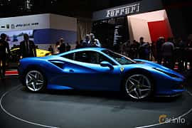Side  of Ferrari F8 Tributo 3.9 V8 DCT, 720ps, 2019 at Geneva Motor Show 2019