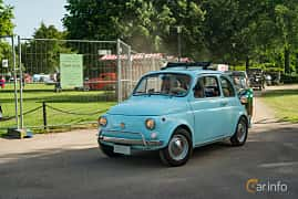 Front/Side  of Fiat 500 L 0.5 Manual, 18ps, 1972 at Ronneby Nostalgia Festival 2019