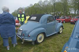 Back/Side of Fiat 500C Convertible 0.57 Manual, 16ps, 1954 at Italienska Fordonsträffen - Krapperup 2019