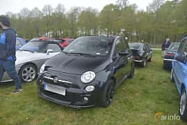 Front/Side  of Fiat 500C 0.9 TwinAir Manual, 105ps, 2014 at Italienska Fordonsträffen - Krapperup 2019
