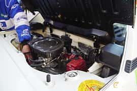 Engine compartment  of Fiat X1/9 1.5 Manual, 86ps, 1984 at Onsdagsträffar på Gammlia Umeå 2019 vecka 35